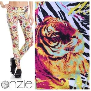 d53eeafd NWT ONZIE Women's Bengal Tiger Long Legging Tights NWT
